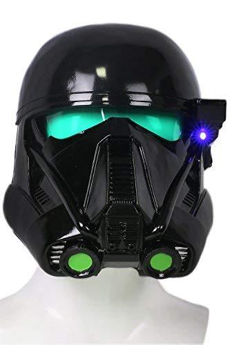 Xcoser Halloween Cosplay Kostüm Helm Deluxe Schwarz Troopers Weich Harz Maske mit LED für Party Verrückte Kleid ()