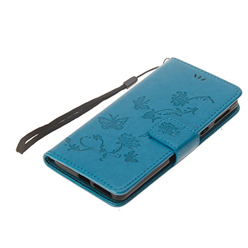 Cover Sony XA1, Sportfun Custodia Portafoglio In Pelle Con Wallet Case Cover Per Sony Xperia XA1 con Porta Carte e Funzione Stand (07) 05
