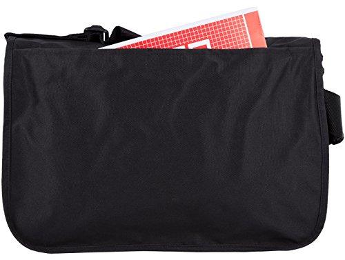 """Original 2stoned Vintage Messenger Bag Umhängetasche mit Sticklogo """"Classic Logo"""", Schwarz Schwarz (Classic Logo)"""