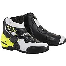 Alpinestars Botas de moto SMX-1 R, negro/blanco/amarillo, talla
