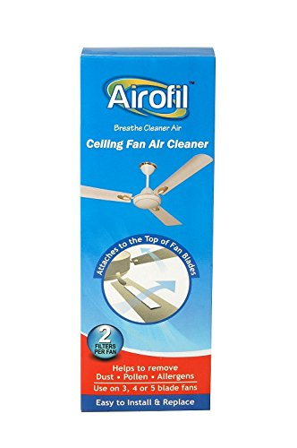 Airofil Ceiling Fan Room Air Cleaner helps to capture dust,pollen & allergens.  available at amazon for Rs.179