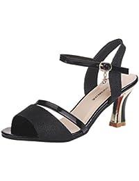 Solike Escarpin Femme Été Sexy Chaussures Femmes Escarpin à Talons Bride  Cheville en Buckle Chaussures Femme Sandales Ouverte… 792fc580f43d
