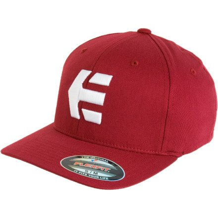etnies Herren Flex-Fit Cap Icon 5, royal white, L/XL