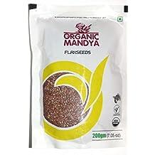 Organic Mandya FLAXSEEDS 200 GMS: Pack of 2