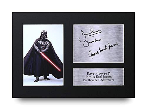 HWC Trading Dave Prowse & James Earl Jones Geschenke Unterzeichneten A4 Gedrucktes Autogramm Star Wars Darth Vader Druck-Foto-Bilderanzeige