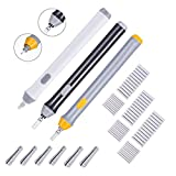 Hillento 3 set gomma elettrica, batteria kit gomma elettrica azionato eraser automatico matita con 66pcs gomme sostituibili aggiuntivi per arte matite, disegno