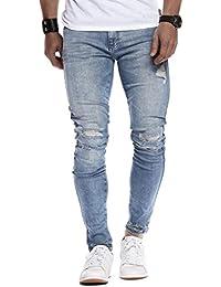 LEIF NELSON Herren Hose Jeans Jeanshosen 5-Pocket Destroyed Used Stretch Freizeithose Denim LN9145