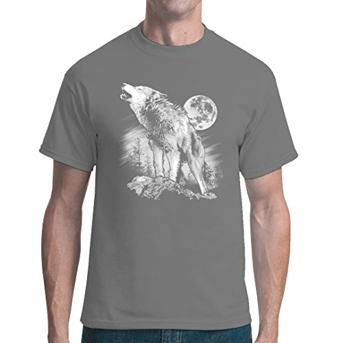 Fun unisex T-Shirt - Heulender Wolf by Im-Shirt Grau