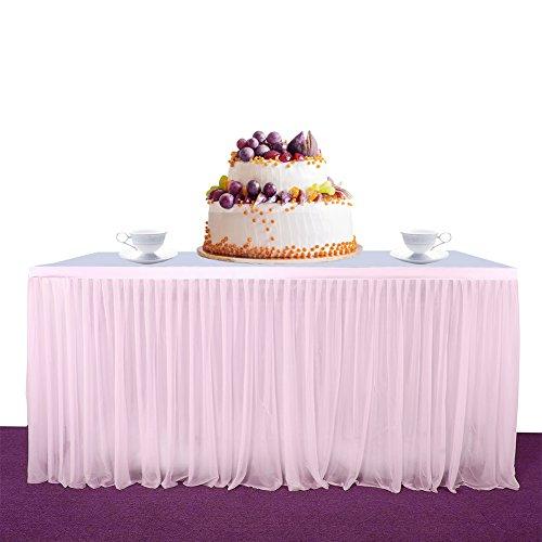 Zantec dehnbar, Tutu, flauschig, für Party, Hochzeit, Geburtstag, Party Dekoration, rose, 183 cm (Pailletten-jute)