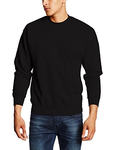 Fruit of the Loom Herren Sweatshirt 12200B, Gr. 52/54 (L), Schwarz (36 Schwarz) (Schwarz Sweatshirt College-hoody)