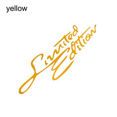 tonywu Limited Edition Aufkleber Lustige Auto Auto Aufkleber Abzeichen Aufkleber Motorrad Aufkleber Auto Zubehör Auto Styling gelb - Limited Emblem Auto Chrome