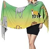 Photo de Echarpe Couverture Châle, Women's Cashmere Blanket Winter Scarf Warm Cozy Wrap Oversized Shawl Cape, Biosphere 27x77 Inch par Irener