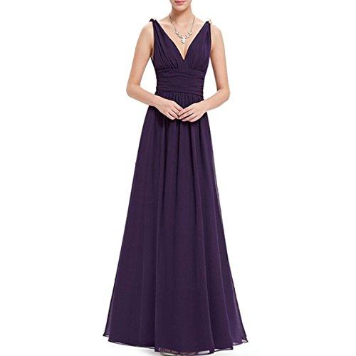 KAXIDY Vestiti Estivi Donna Vestiti da Sera Eleganti Vestito da Sera Lungo Abiti da Cocktail Viola