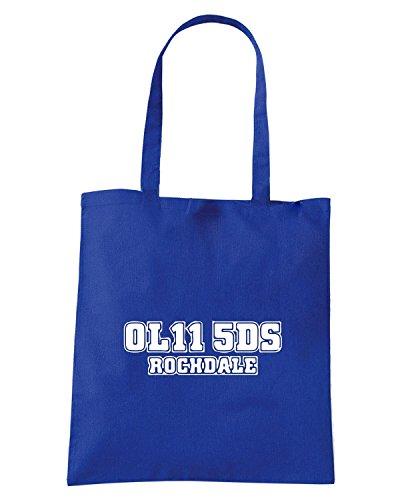 T-Shirtshock - Borsa Shopping WC1266 rochdale-postcode-tshirt design Blu Royal