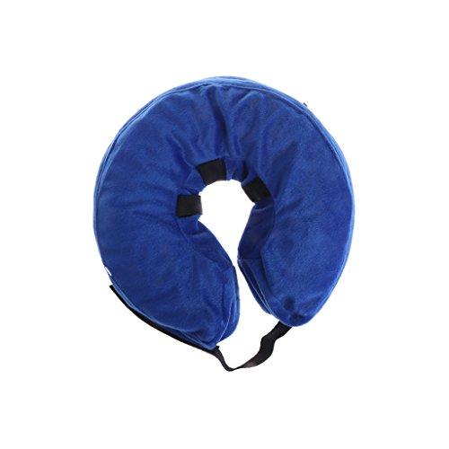 WuLi77 Flotador de piscina para mascotas, collar de natación antimordeduras, collar inflable...