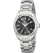 Omega mujer-reloj de pulsera analógico de cuarzo de acero inoxidable 23110306006001
