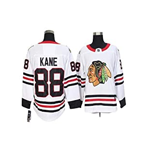 Aitry Patrick Kane Chicago Blackhawks Jugend Hockey Trikot # 88 NHL Nachdruck Trikot, Atmungsaktiv Langarm, Pullover