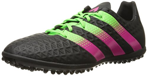 adidas Performance Men s Ace 16.3 TF Soccer Shoe Black/Shock Green/Shock Pink 8 D(M) US