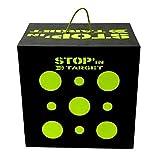 Stop in Target–Zielscheibe Cube–Für Bögen traditionellen oder zu Riemenscheiben–Maße 50x 50x 35cm.