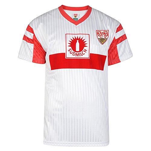 Score Draw Herren Retro - Trikot VfB Stuttgart | Deutscher Meister Trikot 1992 in Weiß, Größe: XL