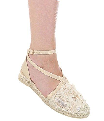 Damen Pumps Schuhe Elegant High Heels Bequeme Beige