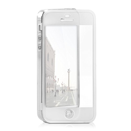 kwmobile TPU Silikon Hülle für Apple iPhone SE / 5 / 5S - Full Body Protector Cover Komplett Schutzhülle Case klar in Transparent
