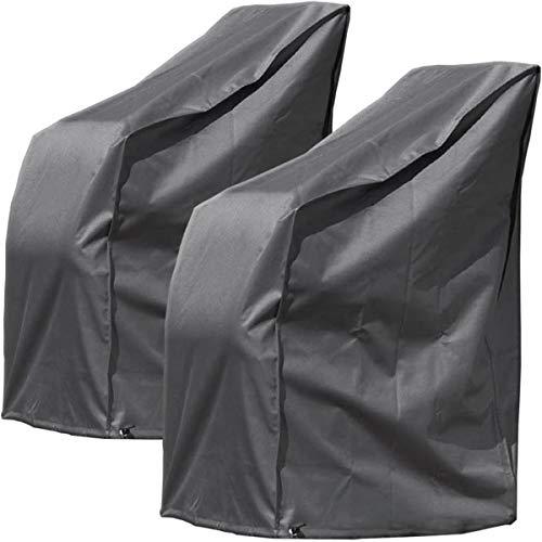 Monkey Mountain 2er Set Schutzhülle Deluxe für bis zu 8 Gartenstühle/wasserdicht aus Oxford Polyester 420D / atmungsaktiv/Winterfest/frostsicher/strapazierfähig