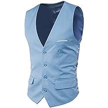 Waistcoat Chaleco Hombre Traje Blazers Sin Mangas De Boda Casual Slim Fit