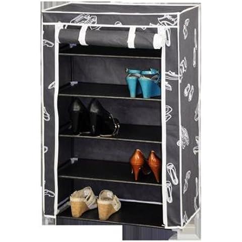 Kit Closet 4090042005 - Zapatero armario, 5 baldas, tela