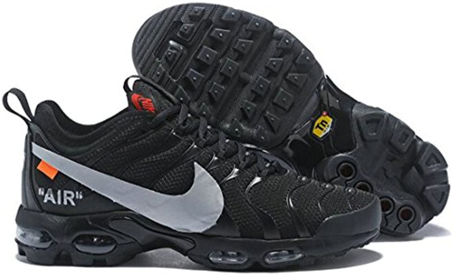 Off White X Air Max Plus TN Ultra Black Grey AJ0877 100 Herren Damen Gymnastikschuhe