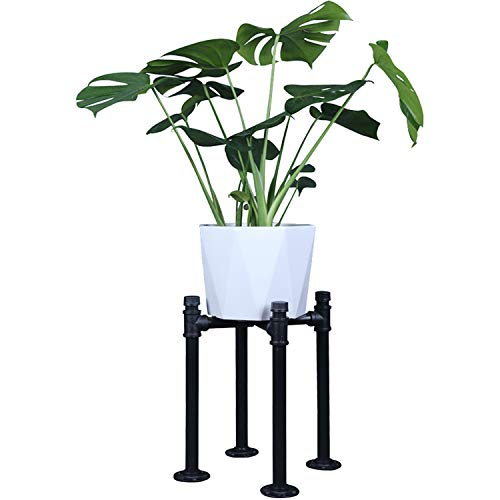 OROPY Blumenständer aus Mattschwarz Metall, Passt bis zu 22cm Töpfe, Industriestil Blumenregal, Pflanzenständer für Topfpflanzen, innen und außen Garten (Pflanzgefäß und Topf Nicht enthalten)