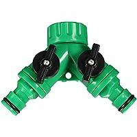 Bluelover Avvitare il tubo flessibile tubo Splitter 2 vie connettore adattatore giardino strumento