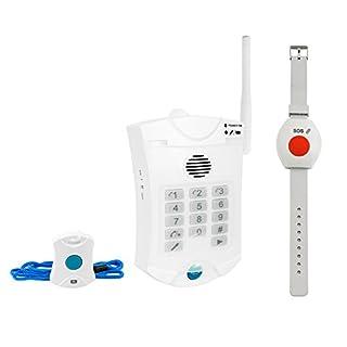Senioren Funk-Notruf-System inkl. Halsband u. Armband Sender für zu Hause