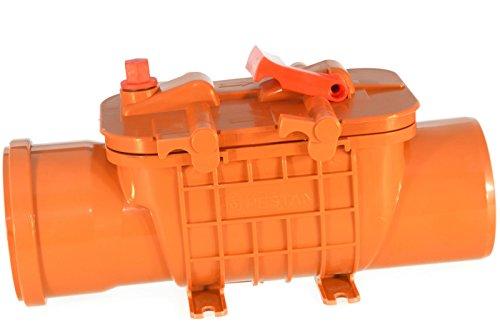 Preisvergleich Produktbild Rückstauklappe Rückstauverschluß Doppelverriegelung Ø 110 / DN 100 mm KG Rohre