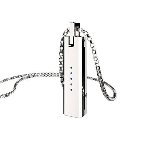 Gaddrt Unique pendentif en métal pendentif porte magnétique chaîne pour Fitbit Flex 2 Flex2 Band, acier inoxydable (Argent)