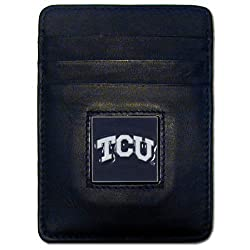 NCAA TCU Horned Frogs Leather Money Clip/Cardholder