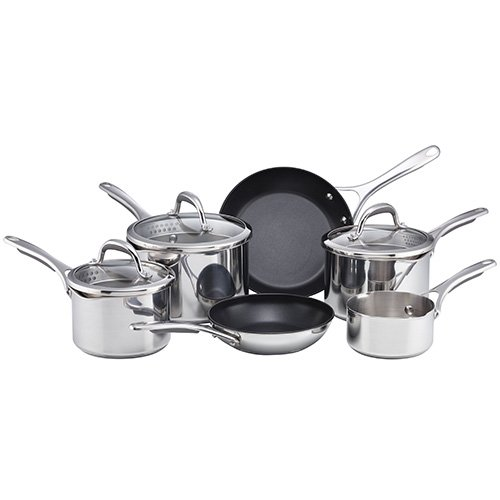 Meyer Select Stainless Steel Cookware Set, 6-Piece - Silver
