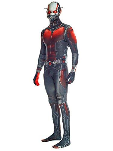 Marvel Ant Man Morphsuit Lizenzware schwarz rot (Kinder Rot Morphsuit)
