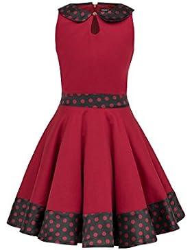 BlackButterfly Niñas 'Zoey' Vestido De Lunares Vintage Años 50
