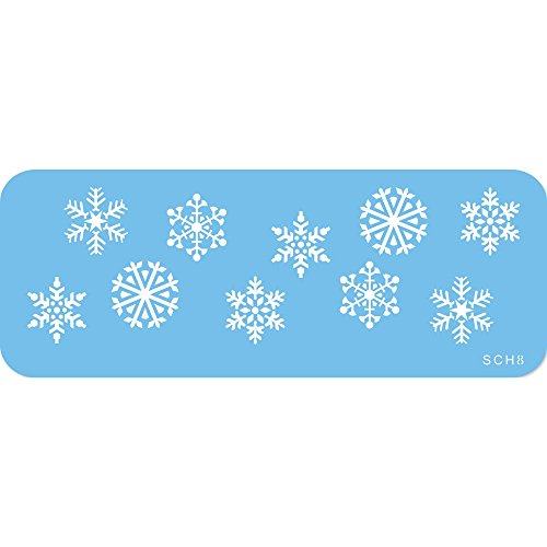 locken-Schablone, Kunststoff, Blue, cm, 15 x 1 x 15 cm, 1 Einheiten (Schneeflocke Kunststoff)