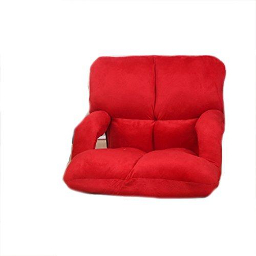 Faule Couch Mit Armlehnen Tatami Faltbare Einzelne Kleine Sofa-Bett Computer Rücken Stuhl Boden Sofa,Red