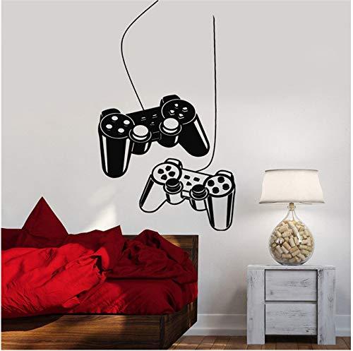 Yxbb joystick staccabile decalcomania da muro gioco macchina videogiochi sala giochi bambini adesivo in vinile teen art parete tattoo camera da letto murale 57x100cm