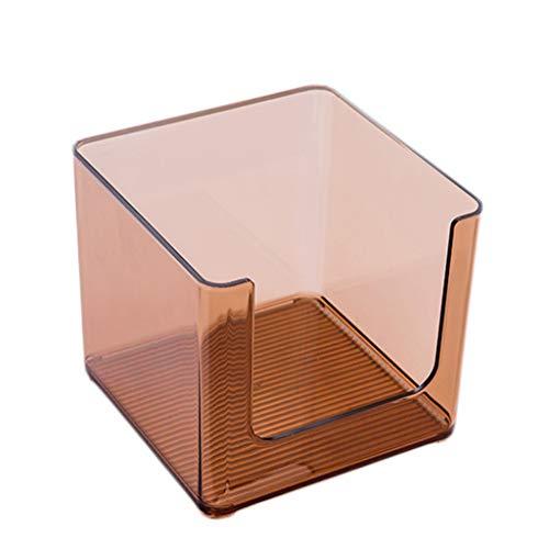 KKY-ENTER Coffret d'étalage simple de stockage de produits de soin de peau de bureau de cosmétique acrylique transparent de bureau (Couleur : C, taille : 16.5 * 16.5 * 14.6cm)