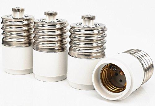 Capolida Lot de 4 adaptateurs de douille E40 pour culot E27
