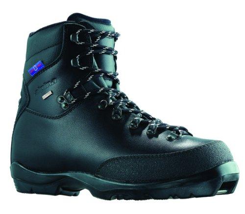 alpina bc-1600Leder wartet Nordic Langlauf Ski Stiefel, für Verwendung mit nnn-bc Bindung, schwarz/silber