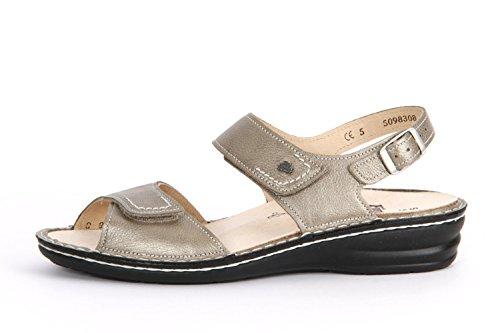 Finn Comfort Manerba 3431-410189 sandali per un maggiore Comfort Argento (Silber (Fango))