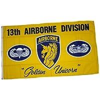 Flagge Fahne 101st Airborne USA weiß Hissflagge 90 x 150 cm