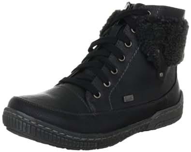 Rieker 97742-00, Damen Boots, Schwarz (schwarz/anthrazit 00), EU 39