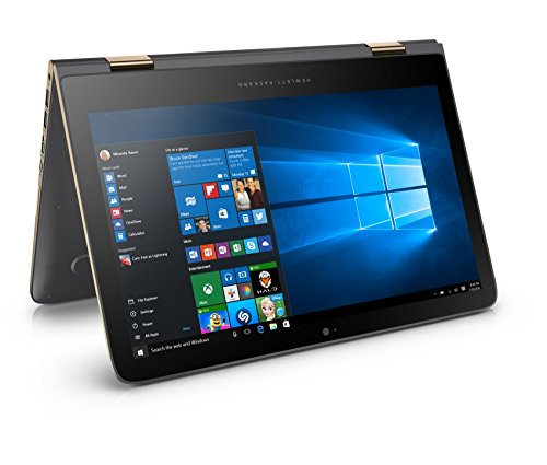 HP Spectre x360 (13-4204ng) 33,8 cm (13,3 Zoll / QHD OLED) Convertible Notebook (Intel Core i7-6560U, 256 GB SSD, 8 GB RAM, Windows 10) grau/kupfer