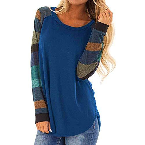 WWricotta Fashion Women Stripe Casual Top T Shirt Ladies Loose Long Sleeve Top ()
